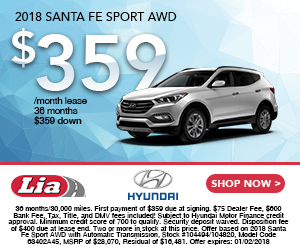 Current 2018 Santa Fe Sport offer