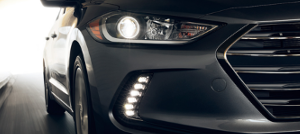 LED Headlights help you new Elantra be seen near Manchester and Torrington