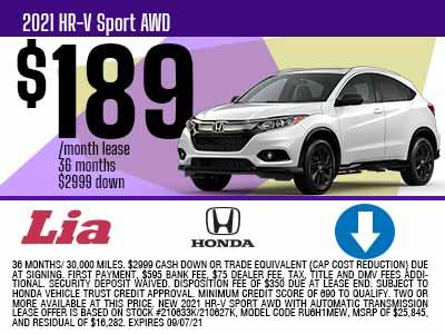 New 2019 & Honda Cars, Trucks & SUVs For Sale | Lia Honda Kingston