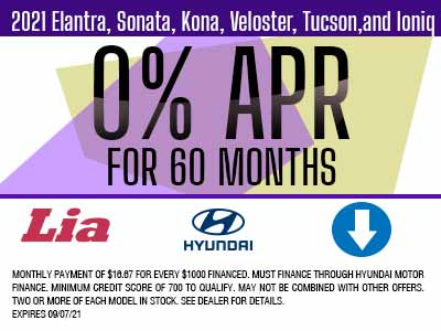 Current 2018 Sonata offer